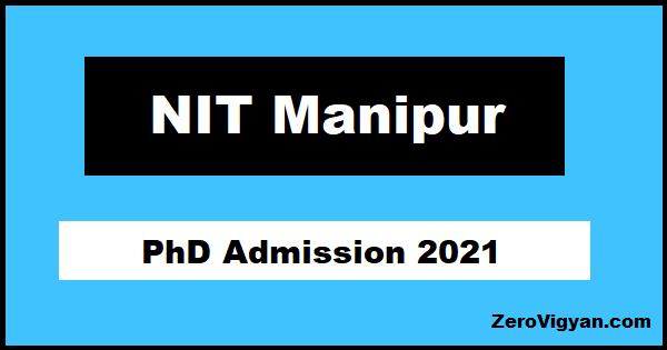 NIT Manipur PhD Admission