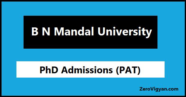 BNMU Bihar PhD Admission
