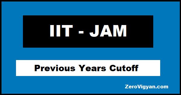 IIT JAM Cutoff