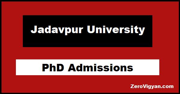 Jadavpur University PhD Admission
