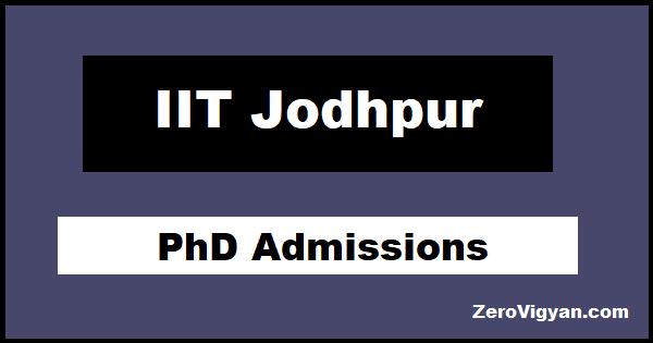 IIT Jodhpur PhD Admission