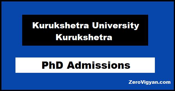 KUK PhD Admission