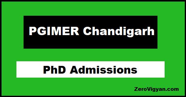 PGI Chandigarh PhD Admission
