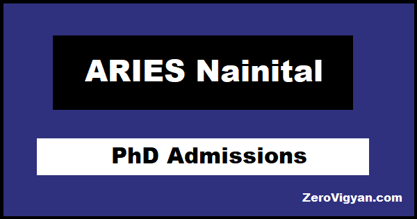 ARIES Nainital PhD Admissions