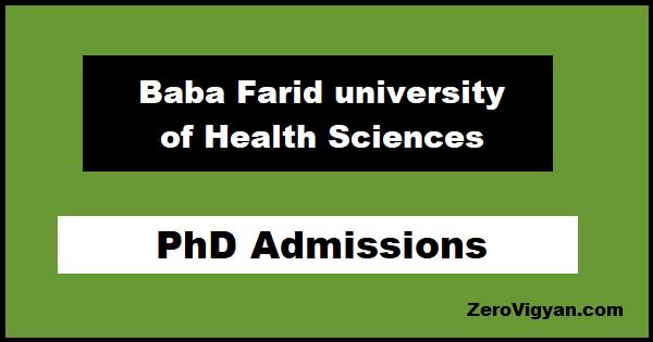 Baba Farid University PhD Entrance Test