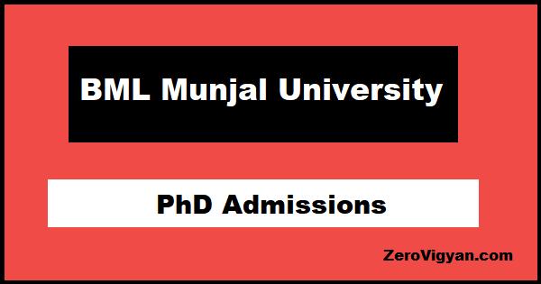 BML Munjal University PhD Admissions