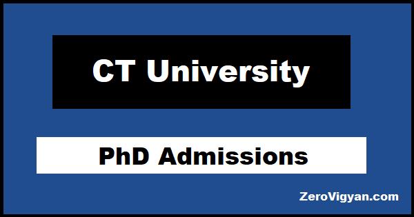 CT University PhD Admissions