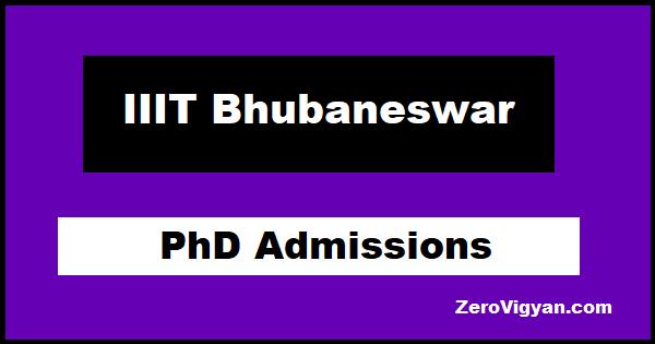 IIIT Bhubaneswar PhD Admissions