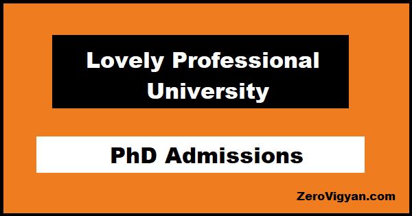 LPU PhD Admissions