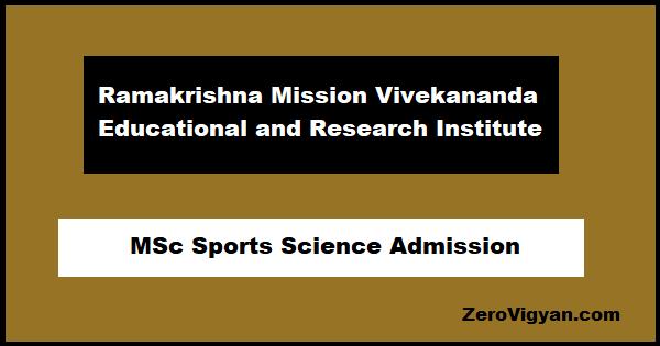 RKMVU M.Sc. Sports Science Admission