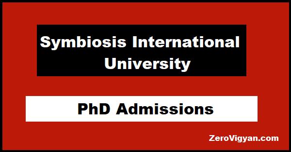 Symbiosis International University PhD Admissions