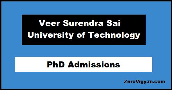 VSSUT PhD Admissions