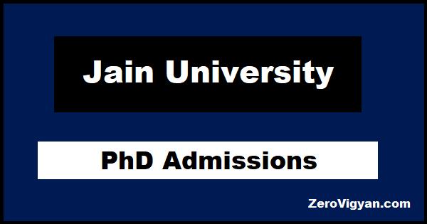 Jain University PhD Admissions