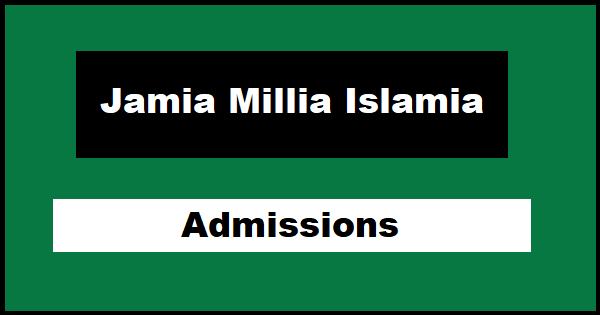 Jamia Millia Islamia Admissions