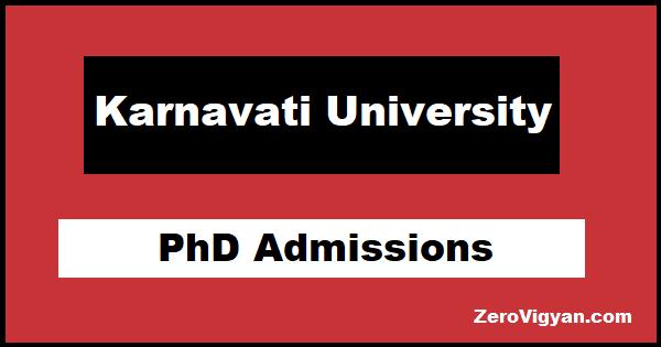 Karnavati University PhD Admissions