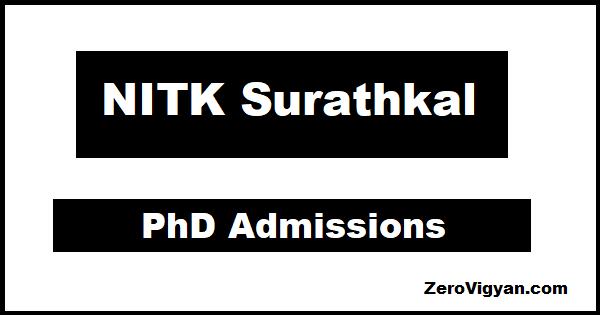 NITK Surathkal PhD Admissions