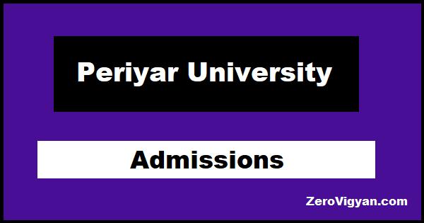 Periyar University Admissions