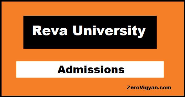 Reva University Admissions