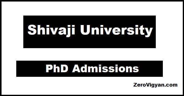 Shivaji University PhD Admissions