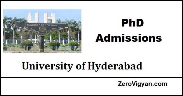 University of Hyderabad PhD Admission