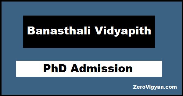 Banasthali Vidyapith PhD Admission