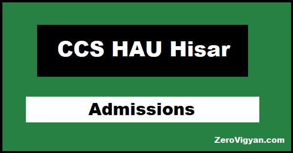 CCS HAU Hisar Admission