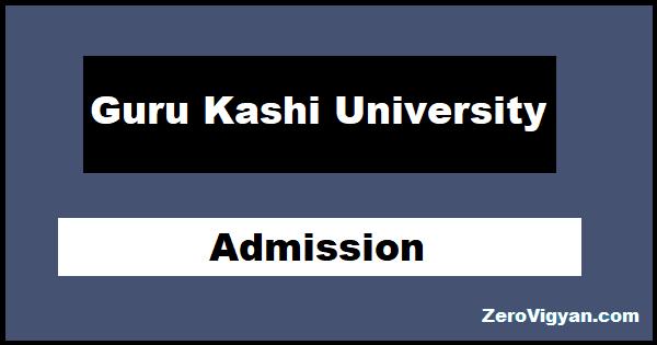 Guru Kashi University PhD Admission