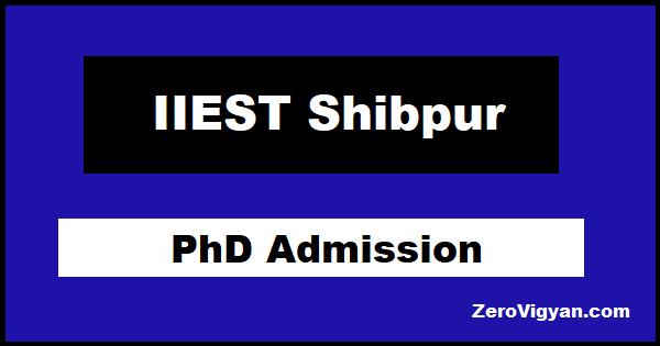 IIEST Shibpur PhD Admission