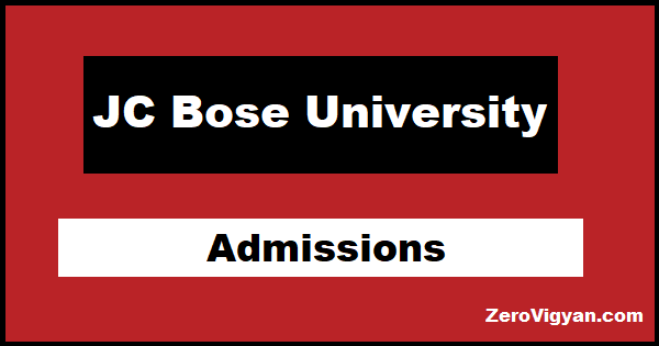 JC Bose University Admission