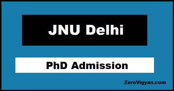 JNU PhD Admission