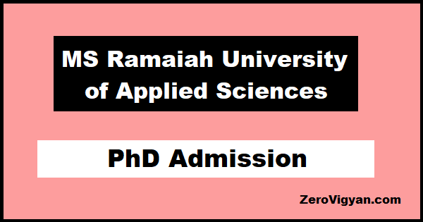 MS Ramaiah University of Applied Sciences PhD Admission