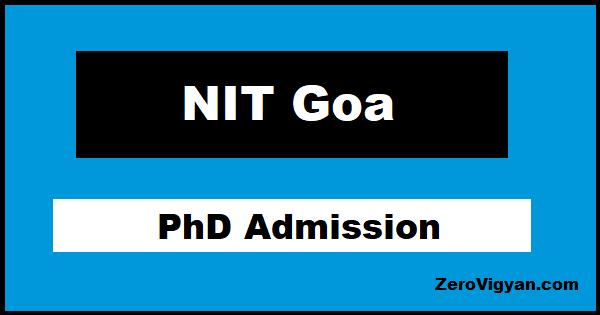 NIT Goa PhD Admission