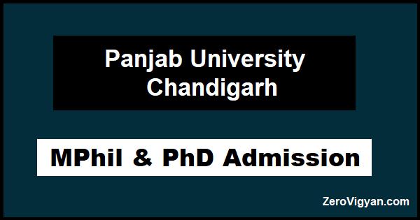 Panjab University PhD Admission