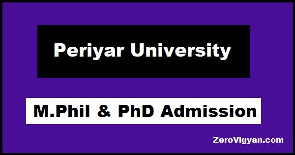 Periyar University PhD Admission