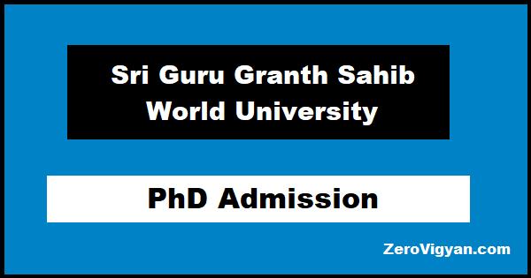 SGGSWU PhD Admission