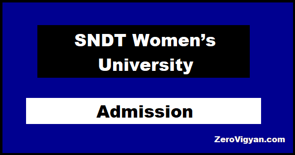 SNDT Women's University Admission