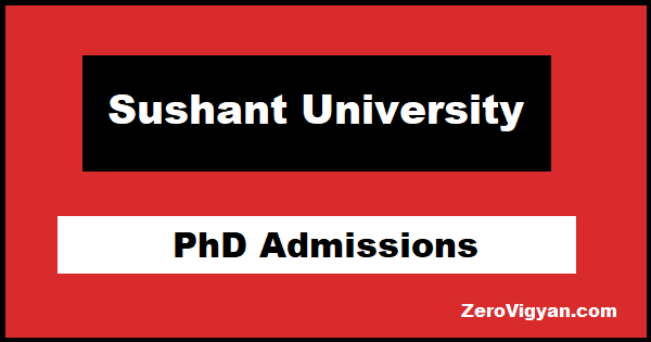 Sushant University PhD Admission