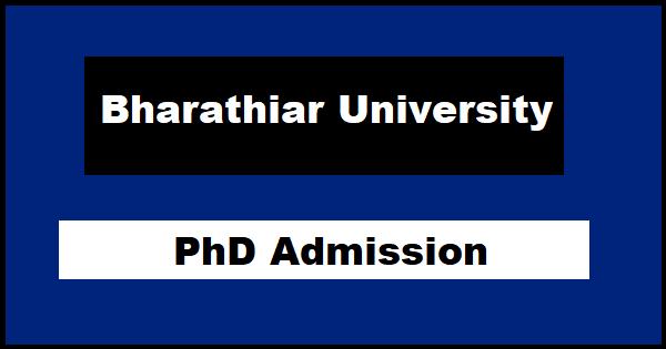 Bharathiar University PhD Admission