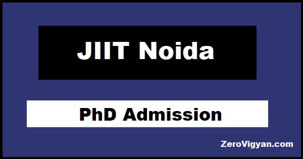 JIIT Noida PhD Admission