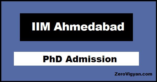 IIM Ahmedabad PhD Admission