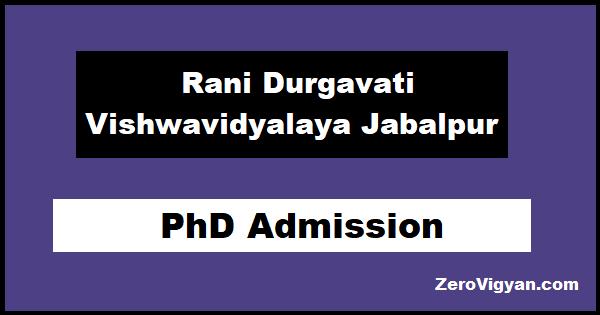 RDVV Jabalpur PhD Admission