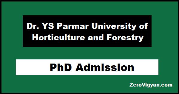 YSP University PhD Admission